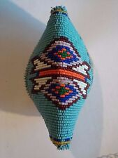 Vintage Hand Seed Beaded Native American Deerskin Coin Small Purse