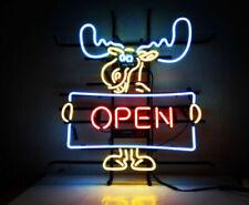 """New Deer Open Welcome Hunters Beer Bar Neon Light Sign 17""""x14"""""""