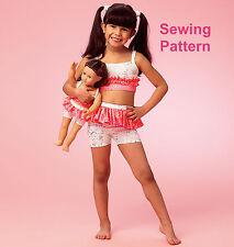 Kwik Sew K4054 Pattern Girls/Dolls Tops, Shorts & Leggings XS-XL BN