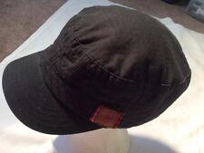 Black Roxy Painters Hat  Adjuatable 100% Cotton