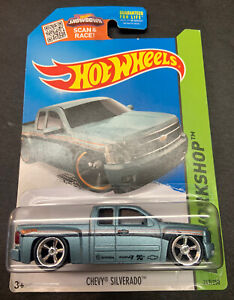Hot Wheels CUSTOM Chevy Silverado with Real Riders