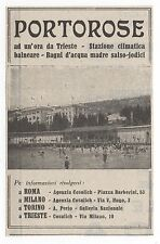 Pubblicità epoca 1932 PORTOROSE TRIESTE TURISMO advert werbung reklame publicitè
