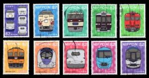 C2234 Japanese stamps  2015 Railway Series Train Episode 3 Extended Version used