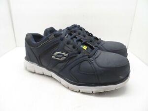Skechers Work Men's Synergy Ekron Alloy Toe Work Shoe Navy Size 8M