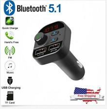 Car Plug Bluetooth Fm Transmitter Mp3 Player Radio Adapter Kit Usb Charger Usa
