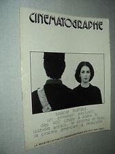 CINEMATOGRAPHE 15 (10/75) ISABELLE ADJANI FRANCOIS TRUFFAUT ANTOINE DOINEL