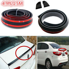 PU Material Rear Trunk Wing Boot Lip Spoiler Fit for Universal Car 4.9ft/1.5M