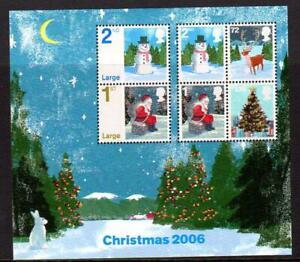 2006 GB CHRISTMAS Miniature Sheet MS2684 MNH Unmounted Mint Snowman UMM