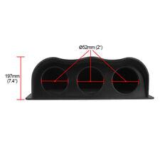 "Black Car Auto 2"" 52mm Universal Three Hole Dash Gauge Pod Mount Holder Truck"