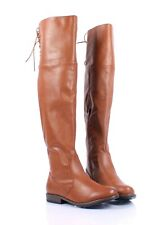 Chestnut Color Sexy Faux Leather Side Zipper Womens Over the Knee Boots Size 7
