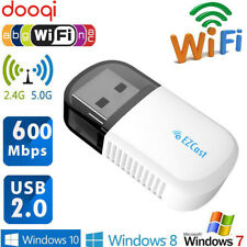 600Mbps USB Wireless WiFi Adapter Dongle Dual Band 5G/2.5G Bluetooth PC Desktop