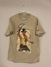 Vintage 2000s Disneyland Indiana Jones Movie Promo All Over Print Vtg T-Shirt