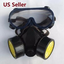 Respirator Mask Eye Goggles for Industrial Gas Chemical Anti-Dust Paint Guard