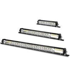 7/13/20 inch Dual Row Slim LED Work Light Bar Flood Spot Off-road Truck ATV SUV