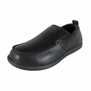Crocs Mens Tummler Leather Slip Resistant Work Shoes