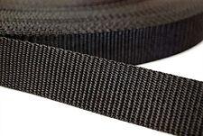KRAFTZ® Black Polypropylene Webbing Strap Tape DIY Craft Belt Apron Bunting