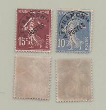 France / lot 2 timbres neufs préoblitérés semeuse 10 et 15 centimes YT n°,52,53