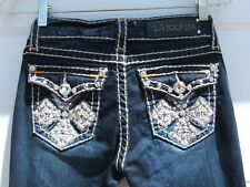 LA Idol Jeans, Miss Revival Capri, Flap, Stretch, Embellished, Wmn's 3 x 22""