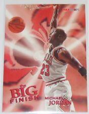 1996/97 Michael Jordan Bulls NBA Skybox Hoops The Big Finish Card #176 NM Cond