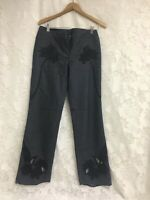 Express Jeans Pants Stretch Cutouts Womens 7/8