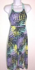 KOHL'S Athletic Jersey Casual Summer Size S Palm Leaf Racer Strap Back Dress