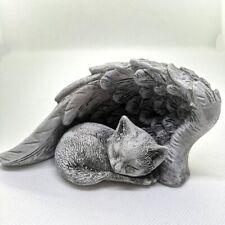 Engelsflügel Katze Grabschmuck Katzenfigur Figur Dekofigur Grabfigur Tiergrab