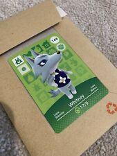 Whitney #148 Authentic Animal Crossing New Horizons Amiibo Card Series 2