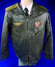 Vintage Soviet Russian Russia USSR Aviator Military Pilot Flight Leather Jacket