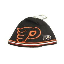 New NHL Philadelphia Flyers Mens Reebok Winter Hat Reversible One Size Toque
