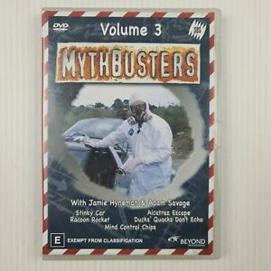 MYTHBUSTERS Volume 3 DVD - Region 4 PAL - TRACKED POSTAGE