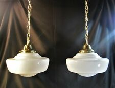 School House Chandelier Pendant Antique Globe (2 Available) Matching 12 in Diam.