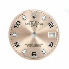 Rolex Oyster Perpetual Date Dial Fits 69174 Pink Salmon With Arabic Markers 20mm
