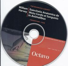 William Harvey Exercitatio Anatomica Anatomy Cd (German Dutch language Octavo)