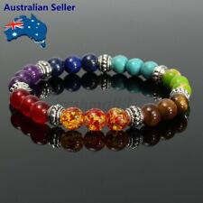 Unisex Chakra 7 Gemstone Healing Buddha Crystal Balance Bead Diffuser Bracelet