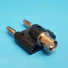 Pomona 1269, Double Banana Plug to BNC Coaxial Adapter, Lot of 2 Pcs