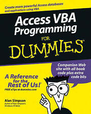 Access VBA Programming For Dummies (For Dummies (Computer/Tech))