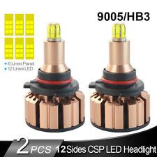 12-Side 9005 9145 HB3 LED Headlight Kit Hi/Lo Beam Bulb Car Light 380000LM 6500K