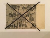 Vintage original Photo Postcard Australian Aboriginal children Boys And Girls