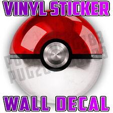 Pokeball Pokemon Go Wall Vinyl Sticker Poster - Childrens Bedroom Mural Art
