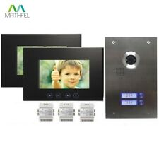 2-Familienhaus Video Citofono Interfono con 2 x 7 Zoll Schermo