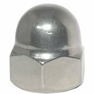 M4 x 0.7 Acorn Hex Cap Nut Grade A2 18-8 Stainless Steel Qty 100