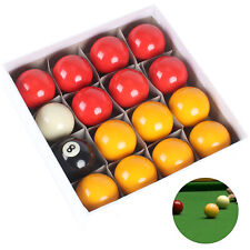 """2"""" RED AND YELLOW POOL BALLS SET - QUALITY COMPETITION / MATCH BALLS FOR POOL"""