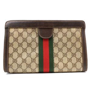 GUCCI business bag clutch bag GGpattern beige