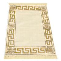 Exklusiver Mäander Teppich Beige K-Seide 67x105 Meander Medusa Carpet Rug versac