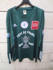 Maillot porté n°9 COUPE DE FRANCE ADIDAS vintage 2003 manches longues trikot XL