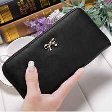2017 new Long leather PU bow cute Women Girl Purse Wallet Card Holders Handbag