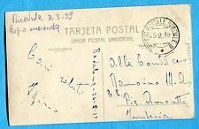1939 UFFICIO POSTALE SPECIALE 9 del 25.02.39 su cart.di BARCELLONA  (239968)