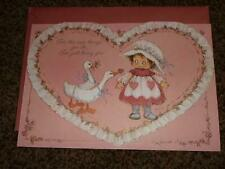 Vintage Hallmark Valentines Day Card Clark Precious Heart 1980's Unused