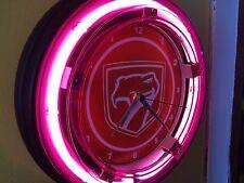 ^^^ Dodge Viper Motors Auto Garage Man Cave Neon Lighted Wall Clock Sign