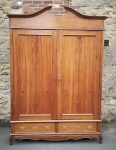 Large 19th Century  Continental Walnut Armoire / Wardrobe